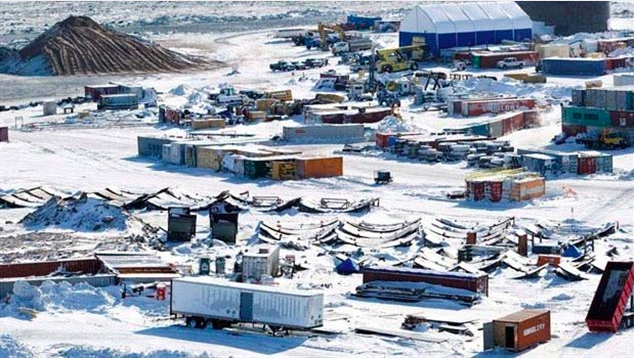Meadowbank gold mine, Nunavut, Canada. Photo Credit: CP